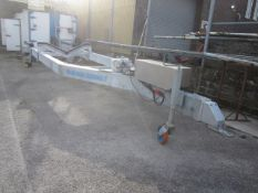 Naval Techno Sud mobile, single axle boat trailer with hydraulic powered rise & fall, model CVA6-