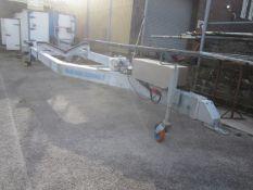 Naval Techno Sud mobile, single axle boat trailer with hydraulic powered rise & fall, model CVA6-