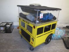 Mobile mini aquarium, approx. size: H: 800mm x D: 660mm x W: 660mm