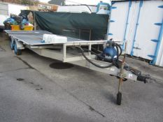 Twin axle bespoke manufactured wash down trailer with fitted waste tank, drainage, recycling