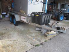 Shadley double lock twin axle drop side trailer, type HU3HD, serial no: CD87/001, approx. size: 1.3m