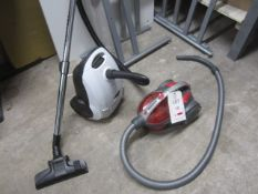 Two assorted vacuums, 240v