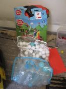 Chad Valley ball pit and quantity of assorted balls