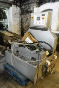 Microdat twin keg cask washer (3 phase), with associated pipework and power cable (as per lot