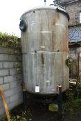 APV Aluminium cylindrical liquid storage vessel, No. WD 45P1, approx overall dimension 3300 x 1600mm