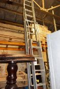 Two various aluminium ladders (as lotted)