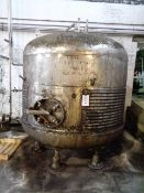 Stainless steel framed single skin water holding tank, approx 3000mm dia x 2000mm height (approx