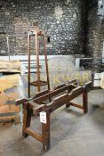 Timber framed 3 cask vintage barrel stand and hat rack/umbrella stand