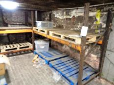 Two bays of adjustable pallet racking, approx 2800 x 900mm