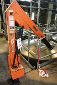 Slingsby 1000kg capacity hydraulic pedestal hoist LOLER Certification: TBC (The purchaser must