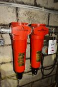 Two Domnick Hunter Inline oil/water separators