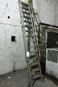 Aluminium 15-tread step ladder