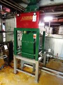 Alan Ruddock Engineering AR2000 malt mill with outfeed, mounted on steel framed pedestal (Please