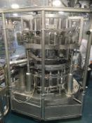 16 Head Bottle Filler for 11 types of bottle c 200 jars per minute, change parts 2