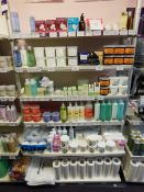 Assortment of waxing products to shelving