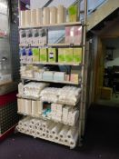 Rack and contents, including cotton pads, hygiene gloves