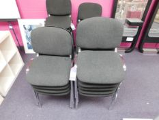 9 x Fabric upholstered chairs