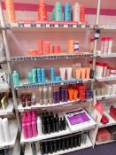 Contents to 1 bay of shop display shelving, to include assortment of Wella hair products