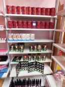 Contents to 1 bay of shop display shelving, to include an assortment of hair colour products