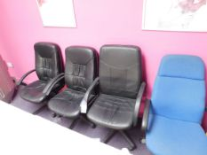 4 x Assorted swivel chairs