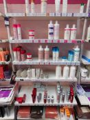 Contents to 1 bay of shop display shelving, to include hair repair products, colour treatments etc