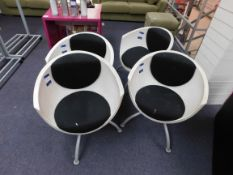 4 x Bucket chairs