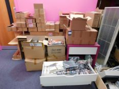 Large quantity of assorted stock, including hair jewellery, false eye lashes, French trimmers