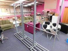 3 x Mobile display stands, approximately 7ft