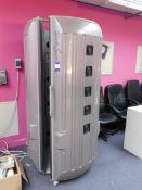 Garda Sun Sunrise 7000 vertical tanning booth, Serial number: 16765 *Located on mezzanine *Will