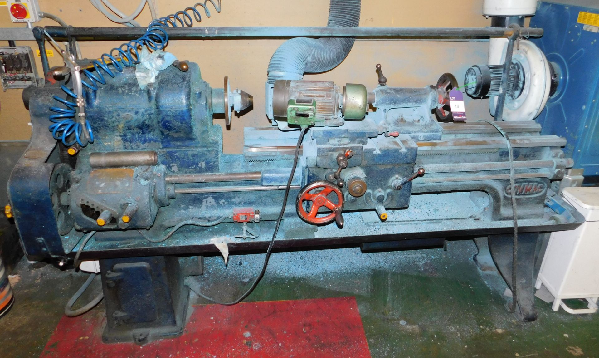 Lot 19 - Covmac Lathe (Skims Rollers) *Please note that the