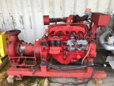 Iveco 6 cylinder Turbo Diesel Fire Pump