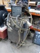 An ESAB Lag 400 3PH Welder complete with Wire Feed