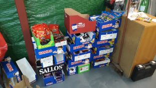 Quantity of Food Stock and racking to Room to include Haribo Sweets, Cakes, Biscuits, Crisps,