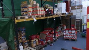 Quantity of Food and Drink to Bays including Mulled Wine, Biscuits, Sauces, Saur Kraut, Dumplings