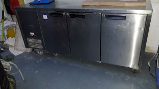 Williams HJC3SA Jade 3 Door 545Ltr Counter Fridge Serial Number 0911/575395 240v