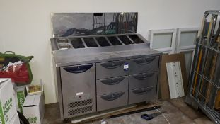 Williams 6 Drawer Fridge with Fitted Salad Counter (item located upstairs)