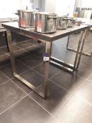 Stainless Steel Framed Bar Table