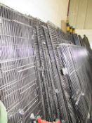 Large qty of Black Mesh Steel Fencing and Posts, Clips