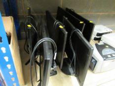 7 x Assorted Monitors, Cables etc.