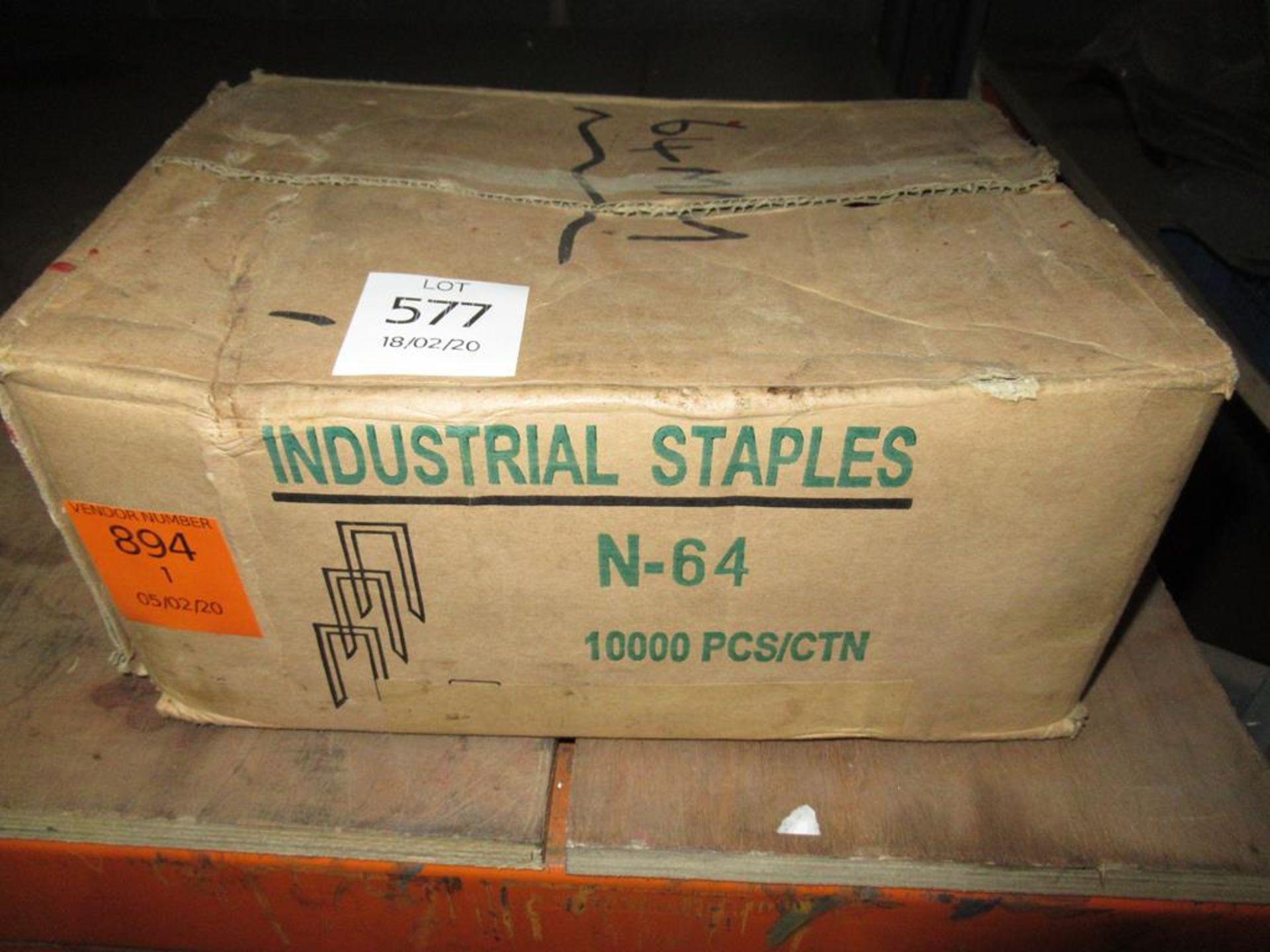 Lot 577 - Box of Industrial Staples N64
