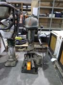 Meddings Drill Tru 5 speed Bench Drill and M/C Vice