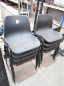 8 x Plastic Stacking Chairs