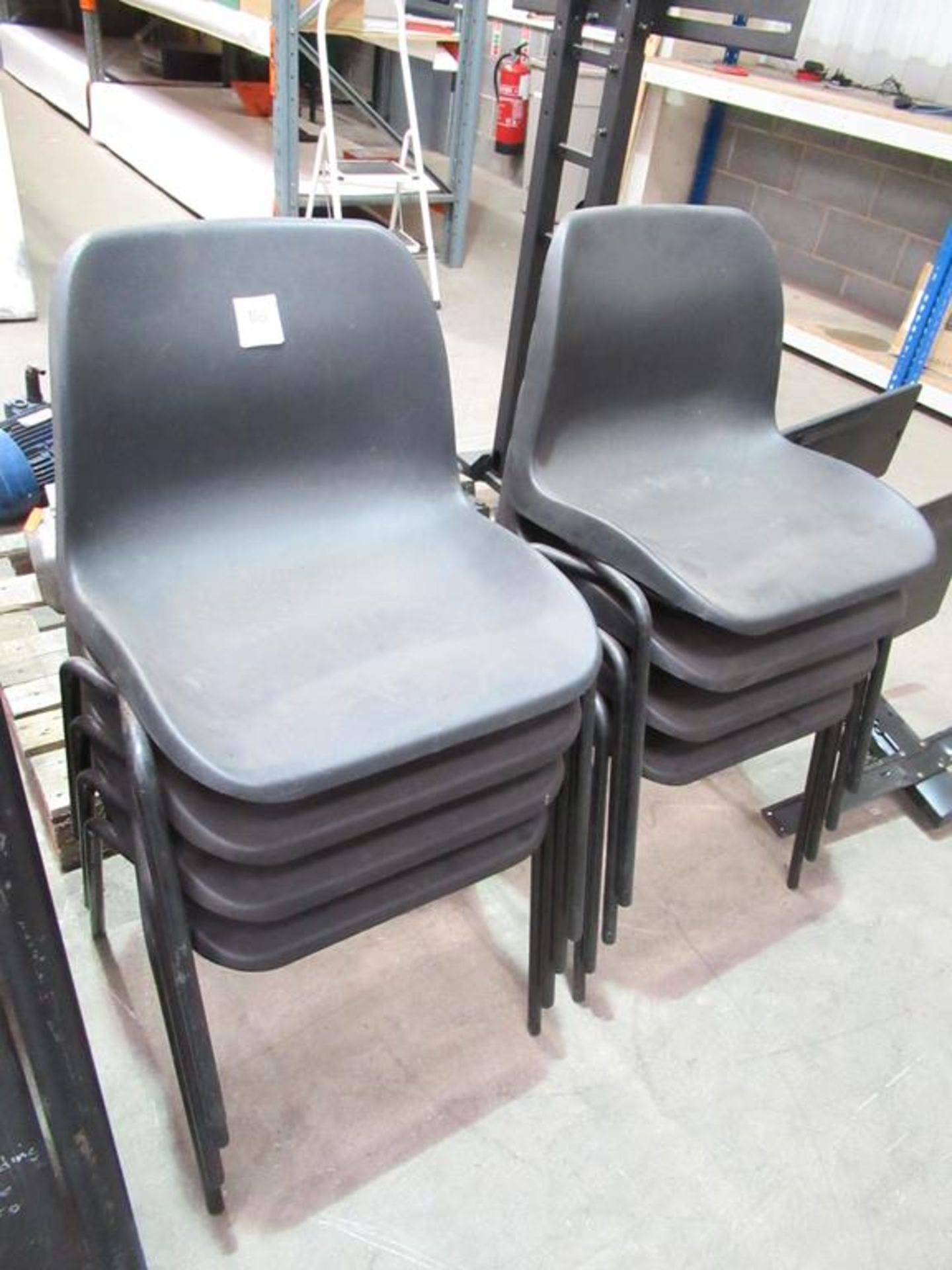 Lot 116 - 8 x Plastic Stacking Chairs