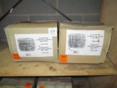 2 x Boxes of 4-pointed Galvanized Barbed Wire