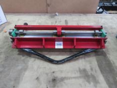 A Small Heavy Duty Bench or Stand Mounted Metal Sheet Bender