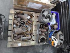 Pallet of Steel Pipe Fittings