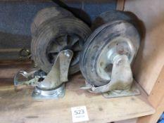"""A Set of Four 8"""" Swivel Heavy Duty Castor Wheels"""