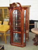 Corner Display Unit with Glass Shelves