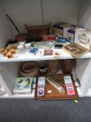 Two Shelves of Collectable Items