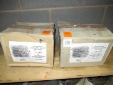 3 x Boxes of 4-pointed Galvanized Barbed Wire